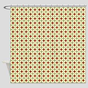 Circles & Starbursts Pattern Shower Curtain
