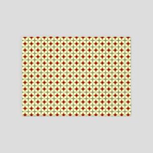 Circles & Starbursts Pattern 5'x7'Area Rug