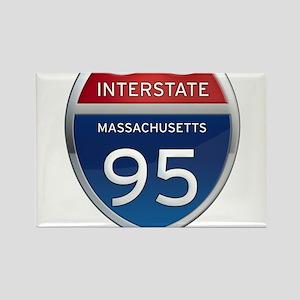 Massachusetts Interstate 95 Magnets