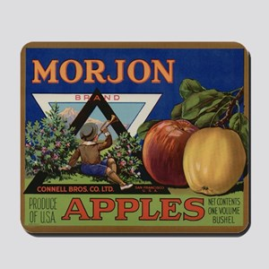 Vintage Fruit Vegetable Crate Label Mousepad