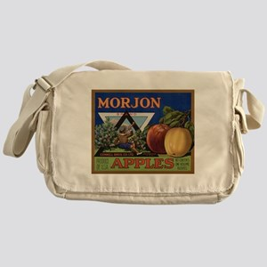 Vintage Fruit Vegetable Crate Label Messenger Bag