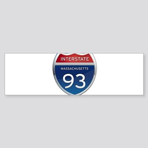 Massachusetts Interstate 93 Bumper Sticker