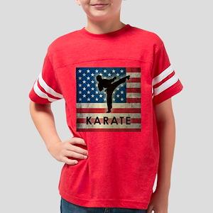 Grunge Karate Youth Football Shirt