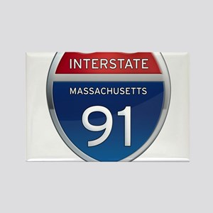 Massachusetts Interstate 91 Magnets