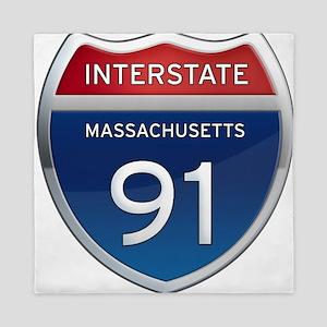 Massachusetts Interstate 91 Queen Duvet