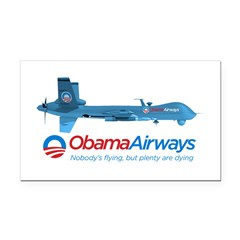 Obama Airways Rectangle Car Magnet