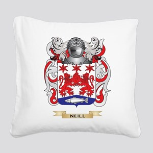 Neill Coat of Arms (Family Crest) Square Canvas Pi