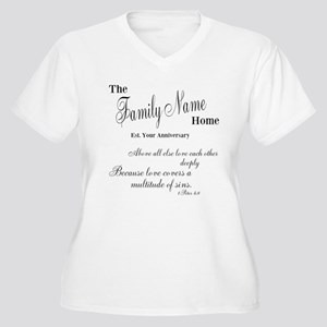 1 Peter 4:8 Women's Plus Size V-Neck T-Shirt