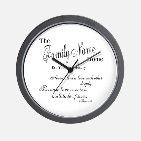 1 Peter 4:8 Wall Clock