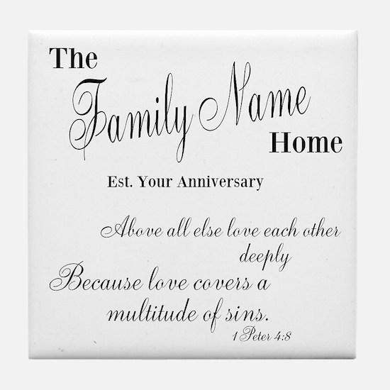 1 Peter 4:8 Tile Coaster