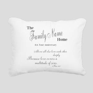 1 Peter 4:8 Rectangular Canvas Pillow