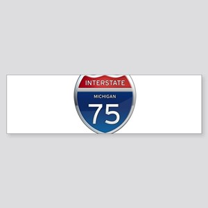 Michigan Interstate 75 Bumper Sticker