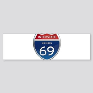 Michigan Interstate 69 Bumper Sticker