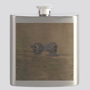 Alligator Reflections Flask