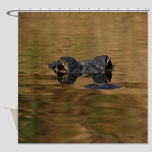 Alligator Reflections Shower Curtain