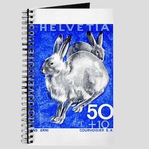 1965 Switzerland Alpine Hare Postage Stamp Journal