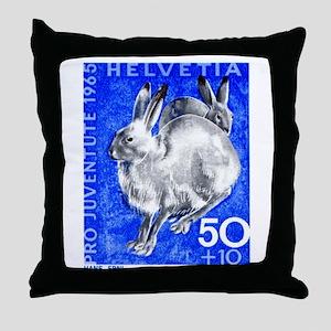 1965 Switzerland Alpine Hare Postage Stamp Throw P