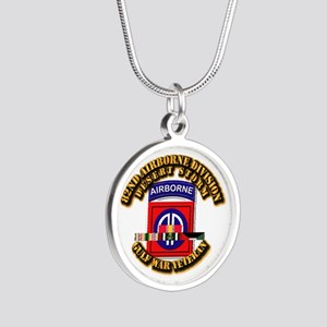Army - DS - 82nd ABN DIV w SVC Silver Round Neckla