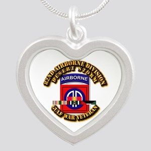 Army - DS - 82nd ABN DIV w SVC Silver Heart Neckla