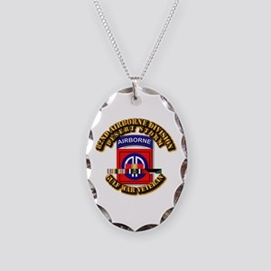 Army - DS - 82nd ABN DIV w SVC Necklace Oval Charm