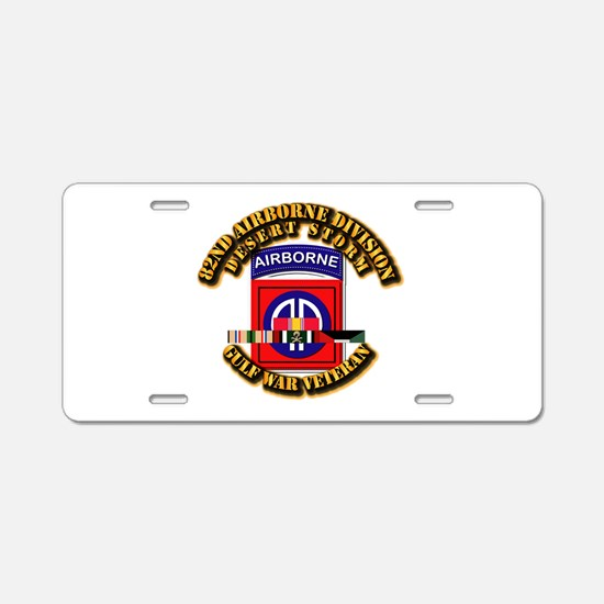 Army - DS - 82nd ABN DIV w SVC Aluminum License Pl