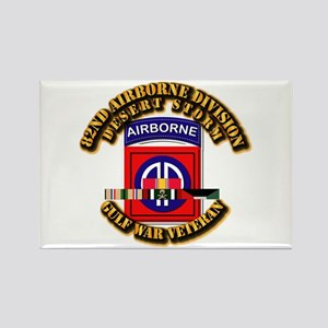 Army - DS - 82nd ABN DIV w SVC Rectangle Magnet