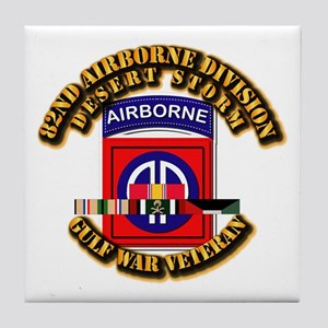 Army - DS - 82nd ABN DIV w SVC Tile Coaster