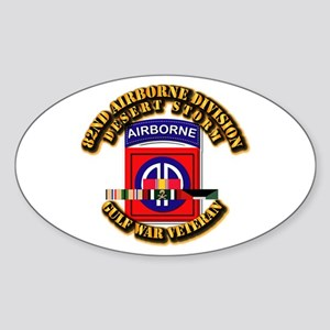 Army - DS - 82nd ABN DIV w SVC Sticker (Oval)