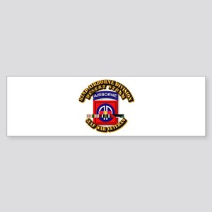 Army - DS - 82nd ABN DIV w SVC Sticker (Bumper)