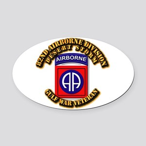 Army - DS - 82nd ABN DIV - DS Oval Car Magnet