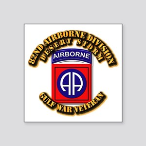 "Army - DS - 82nd ABN DIV - DS Square Sticker 3"" x"
