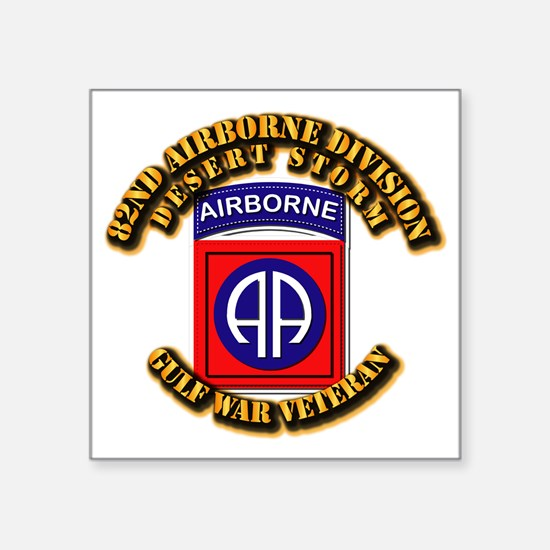 """Army - DS - 82nd ABN DIV - DS Square Sticker 3"""" x"""
