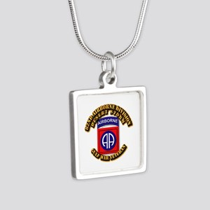 Army - DS - 82nd ABN DIV - DS Silver Square Neckla