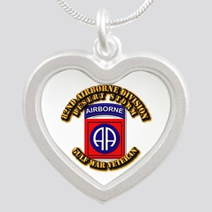 Army - DS - 82nd ABN DIV - DS Silver Heart Necklac