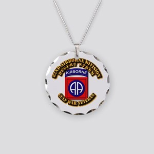 Army - DS - 82nd ABN DIV - DS Necklace Circle Char