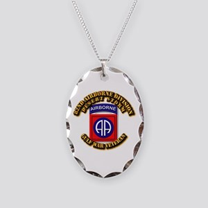 Army - DS - 82nd ABN DIV - DS Necklace Oval Charm