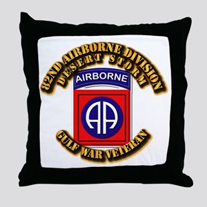 Army - DS - 82nd ABN DIV - DS Throw Pillow