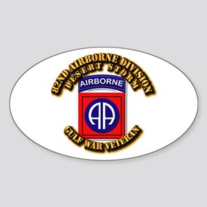 Army - DS - 82nd ABN DIV - DS Sticker (Oval)