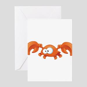 Orange Crab Greeting Cards