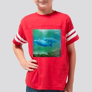 manatee friends square 2 Youth Football Shirt