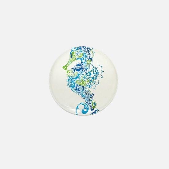 Fancy Seahorse Mini Button