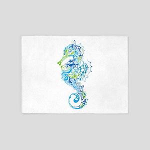 Fancy Seahorse 5'x7'Area Rug