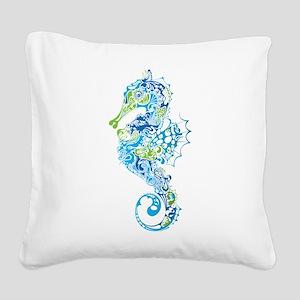 Fancy Seahorse Square Canvas Pillow