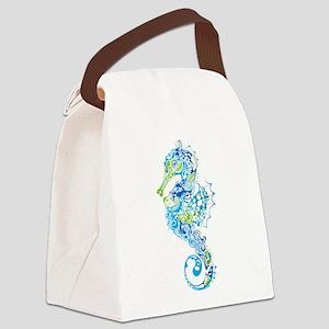 Fancy Seahorse Canvas Lunch Bag