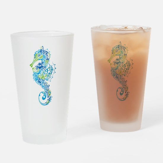 Fancy Seahorse Drinking Glass