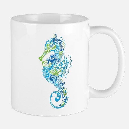 Fancy Seahorse Mugs