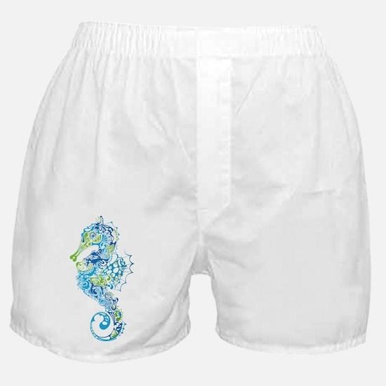 Fancy Seahorse Boxer Shorts