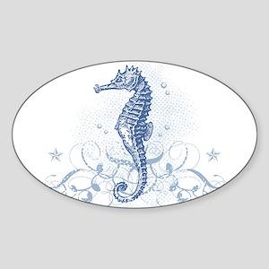 Blue Seahorse Sticker