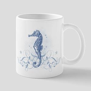Blue Seahorse Mugs