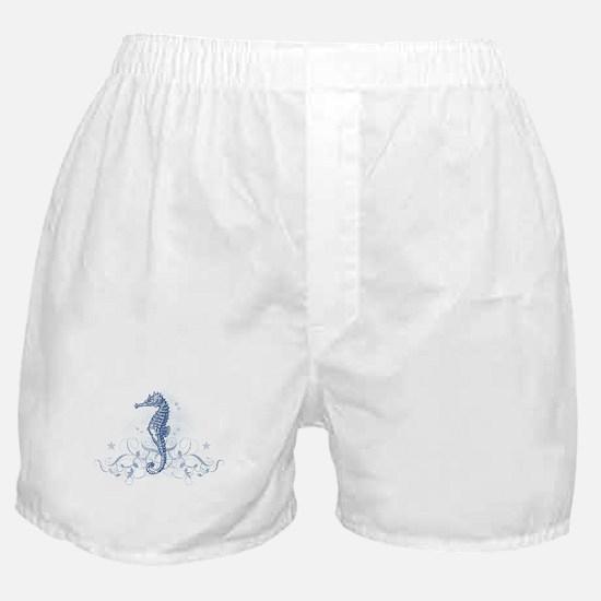 Blue Seahorse Boxer Shorts